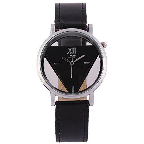 Herrren Armbanduhr Herrenuhren Analog Quarzuhr Paare Uhr Schwarz