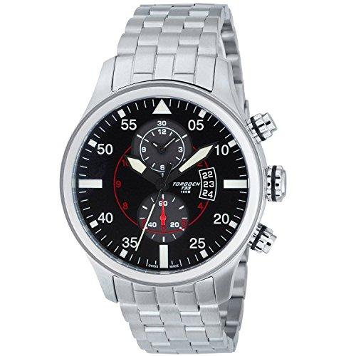 TORGOEN Swiss Chronograph Quarz Edelstahl T33201