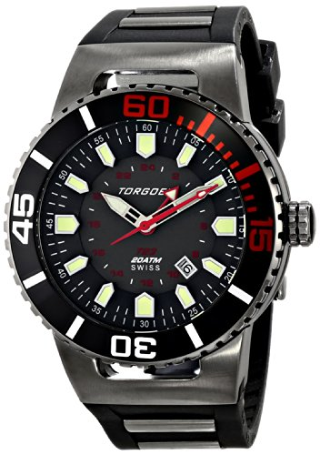 Torgoen Swiss Herren T23306 T23 Gunmetal 200 atm GMT Dive Watch