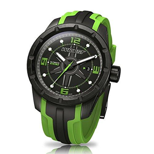 Schwarz und Gruen Schweizer Sport Armbanduhr wryst Ultimate ES30 Fuer extreme sports