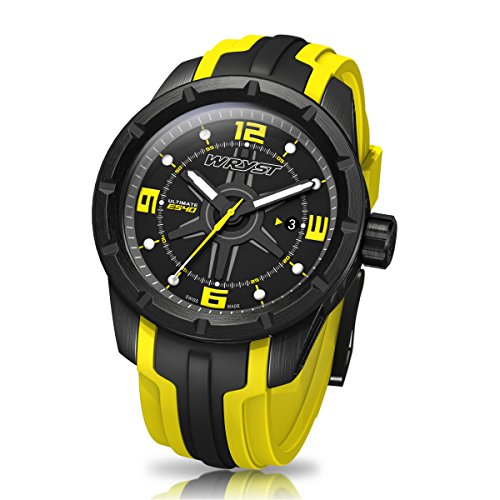 Schwarz und Gelb Schweizer Sport Armbanduhr wryst Ultimate fuer extreme sports