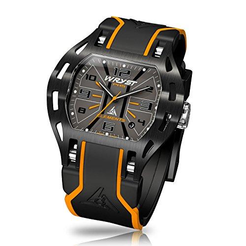 Schwarz Swiss Orange Armbanduhr wryst Elements PH5