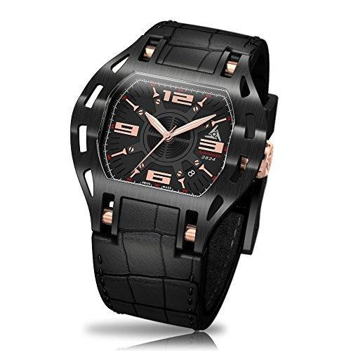 wryst Automatische 2824 Swiss Sport Uhr mit transparenten Fall Rueckseite