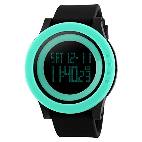 TTLIFE Uhr Silikon Uhr Frauen Armbanduhr wasserdichte Armbanduhren LED uhr digitale Uhr waistwatchs Fashion Uhr Sports Watches Silicone Watch Waterproof Watch gruene schwarz