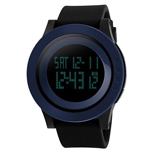TTLIFE Uhr Silikon Uhr Frauen Armbanduhr wasserdichte Armbanduhren LED uhr digitale Uhr waistwatchs Fashion Uhr Sports Watches Silicone Watch Waterproof Watch blau schwarz