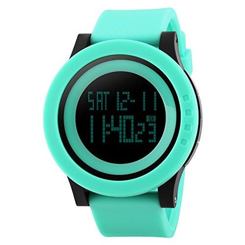 TTLIFE Uhr Silikon Uhr Frauen Armbanduhr wasserdichte Armbanduhren LED uhr digitale Uhr waistwatchs Fashion Uhr Sports Watches Silicone Watch Waterproof Watch gruene