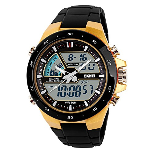 TTLIFE Uhr Armbanduhren Frauen Armbanduhren Unisex Uhr Analog en Hochwertige Uhr Waistwatch Wasserdichte Uhr elektronische uhr digitale Armbanduhr gold