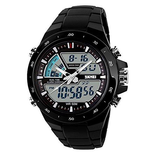 TTLIFE Uhr Armbanduhren Frauen Armbanduhren Unisex Uhr Analog en Hochwertige Uhr Waistwatch Wasserdichte Uhr elektronische uhr digitale Armbanduhr Schwarz