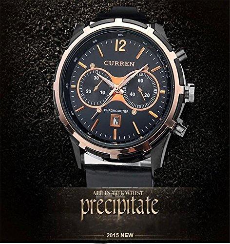Tidoo Uhren Herren Business Armbanduhr Japaneses Stahl Quarz Uhrwerk staintless Silber Fall Schwarz Analog Zifferblatt Flechtwerk Band Stunde Datum Display