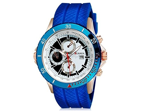 Tidoo Uhren Herren Aviation Sport Handgelenk Armbanduhr Japaneses Quarz Bewegung staintless Stahl Blau Fall Weiss Analog Zifferblatt Flechtwerk Band