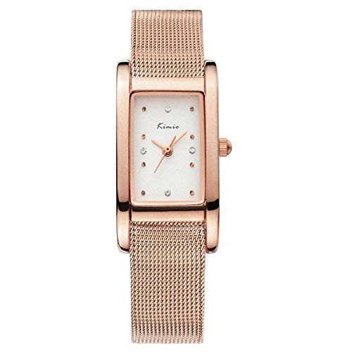 Tidoo Uhren Noble Lady Series Luxus Damen Kleid Armband Armbanduhr Japaneses Miyota 2035 Quarzwerk wasserabweisend staintless Stahl Rose Gold Ton Quadratisch Fall Analog Rose Gold Watch