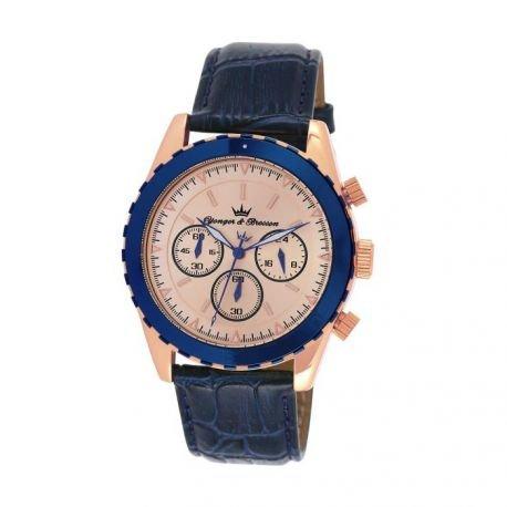 Zeigt Herren yonger Bresson Collection Blueline Rosa goldfarben UNHCR 022 TG