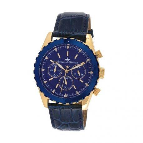 Zeigt Herren yonger Bresson Collection Blueline blau und goldfarben HCP 022 GG