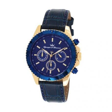 Zeigt Herren yonger Bresson Collection Blueline blau und goldfarben HCP 020 GG