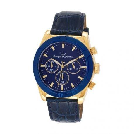 Zeigt Herren yonger Bresson Collection Blueline blau und goldfarben HCP 021 GG
