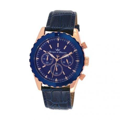Zeigt Herren yonger Bresson Collection Blueline Blaue und rosa gold UNHCR 022 GG