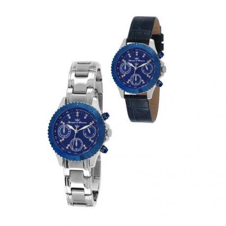 Zeigt Damen yonger Bresson Collection Blueline Blaue und argenteee CDC 020 GM