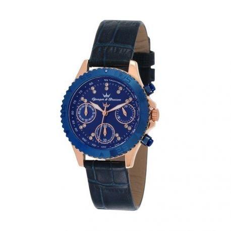 Zeigt Damen yonger Bresson Collection Blueline Blaue und rosa gold DCR 020 GG