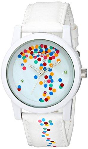 Sprout Damen ST 5532mpwt Multicolor Swarovski Kristall akzentuierten Konfetti Thema Zifferblatt weiss Tyvek Armbanduhr