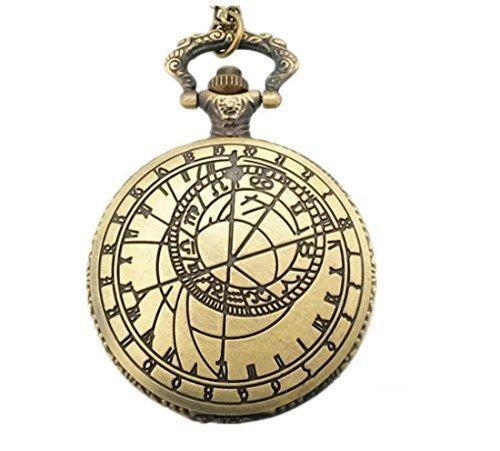 WZC Antik Bronze Quarz Uhrwerk arabischen Zahlen Taschenuhren