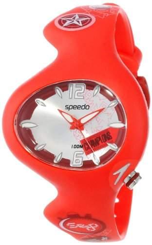 Speedo Kinder-Armbanduhr Analog Kunststoff rot SD55146