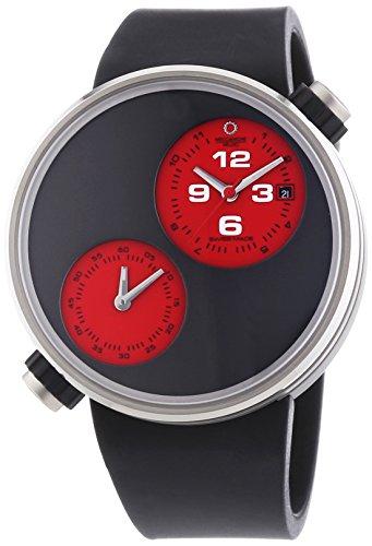 MECCANICHE VELOCI durch Valvole Herren Automatische Armbanduhr mit grauem Zifferblatt Analog Anzeige und schwarz Gummiband w125 N188497024