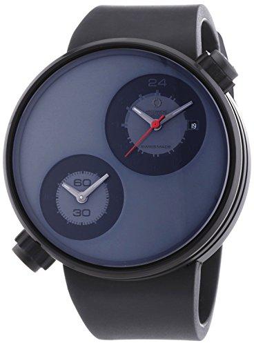 MECCANICHE VELOCI aufgrund Valvole Black Edition Herren Automatik Uhr mit schwarzem Zifferblatt Analog Anzeige und schwarz Gummiband w125 K285497025