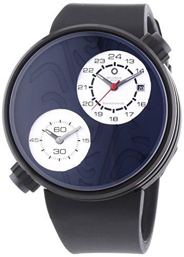 MECCANICHE VELOCI aufgrund Valvole Reifen Limited Edition Herren Automatik Uhr mit schwarzem Zifferblatt Analog Anzeige und schwarz Gummiband w125 K356497025