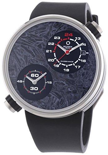 MECCANICHE VELOCI aufgrund Valvole ccm Limited Edition Herren Automatik Uhr mit grauem Zifferblatt Analog Anzeige und schwarz Gummiband w125 N255497024