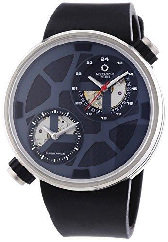 MECCANICHE VELOCI aufgrund Valvole Naked Limited Edition Herren Automatik Uhr mit grauem Zifferblatt Analog Anzeige und schwarz Gummiband w125 N352497024