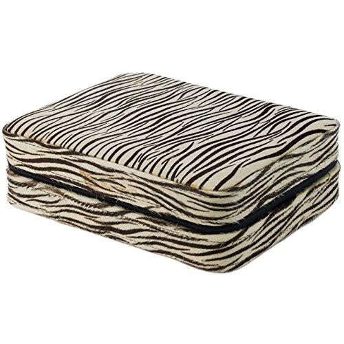 4 Armbanduhr Travel Case Rosshaar Zebra Fell