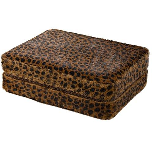 4 Armbanduhr Travel Case Rosshaar Cheetah Muster