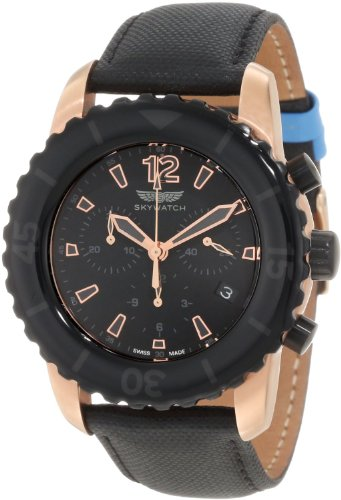 SkyWatch Chronograph Black Dial Mens Watch CC1028