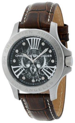 Christian Audigier ETE 110 Twinbird Brown Watch