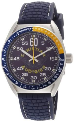 Christian Audigier Unisex-Armbanduhr AERO Analog Kautschuk ETE-121