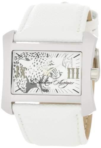 Christian Audigier Womens TWC 406 Die Welt der christlichen Weiss Stingray Cheetah Uhr