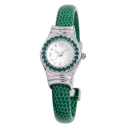 Damen-Armreif WomenEwatchfactory Unisex-Armbanduhr Analog Kunststoff gruen 0701BG0005 Cuff