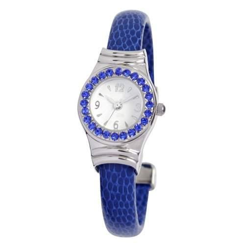 Damen-Armreif WomenEwatchfactory Unisex-Armbanduhr Analog Automatik Kunststoff blau 0701BG0009 Stulpe