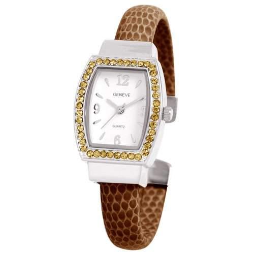 Damen-Armreif WomenEwatchfactory Unisex-Armbanduhr Analog Quarz Kunststoff braun 0914BG0011 Cuff
