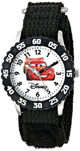 Disney by Ewatchfactory Unisex Armbanduhr Time Teacher Lernuhr Nylon schwarz W000082
