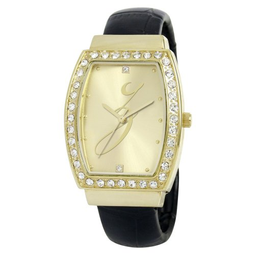 Ewatchfactory Frauen 0914BG0013Z Initial Bangle Goldtone Crystal Z Watch