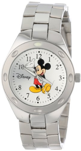 Ewatchfactory Maenner 59007 13 Disney Mickey Mouse Stainless Steel Silver Sunray Zifferblatt
