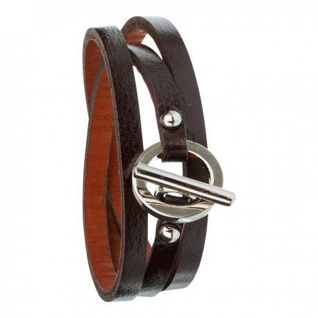 Armband toui2 London Triple Tour Leder Trendy fuer Damen 85878