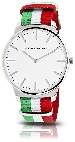 TOM CARTER WATCH Unisex Armbanduhr Cruise Steel White Face 50mm