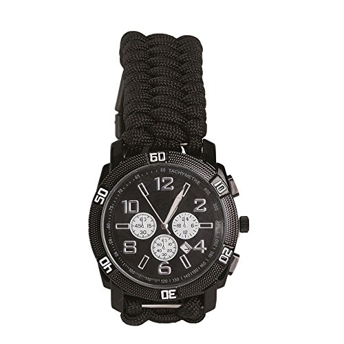 Armbanduhr Paracord schwarz Groesse XL