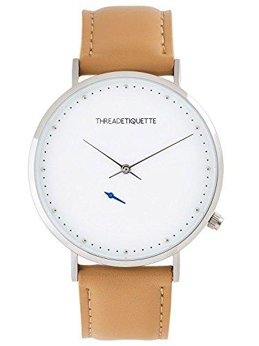Thread Etiquette Chrono Armbanduhr Silberfarben Karamell 269