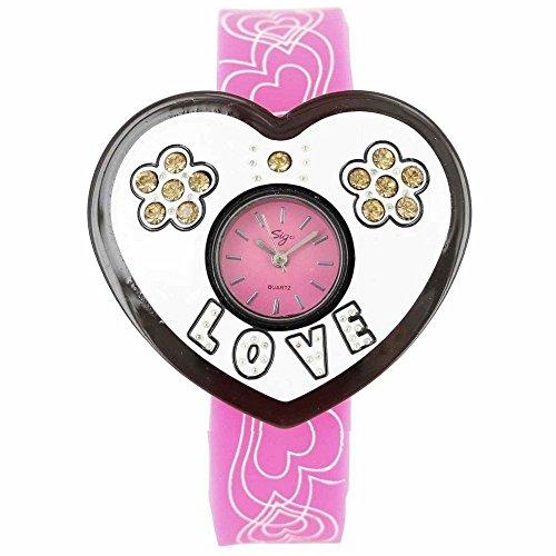 Sigo Zeigt Damen Armband Silikon Rosa 55
