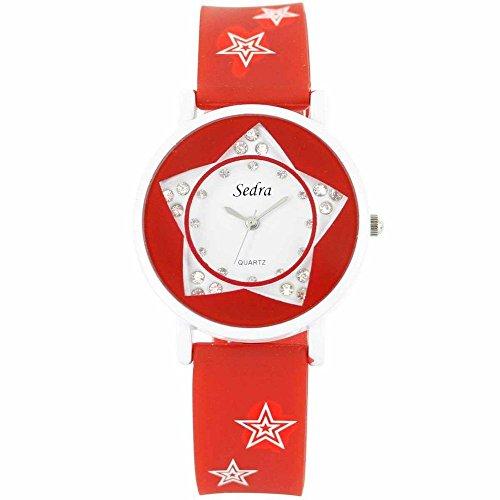 Sigo Zeigt Damen Armband Silikon Rot 1000