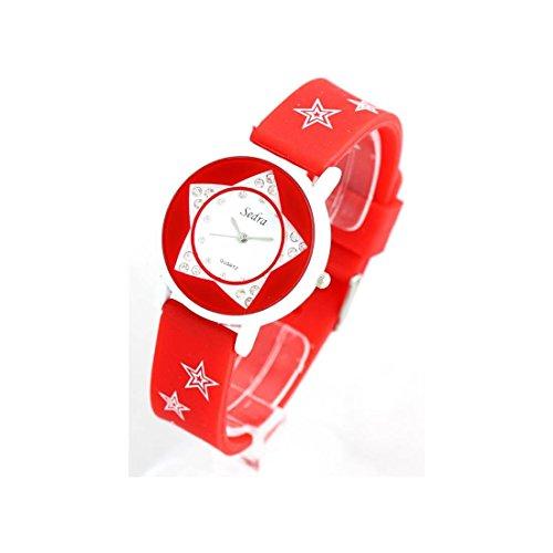 Zeigt Damen Armband Silikon Rot 1000