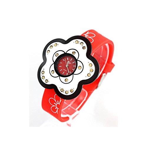 Zeigt Damen Armband Silikon Rot 459